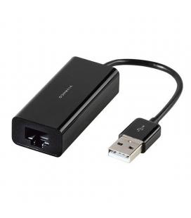 Adaptador usb a lan vivanco 36669 negro - usb 2.0 a ethernet 10/100 - cable 10cm