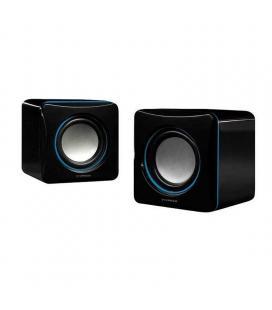 Altavoces 2.0 vivanco 31925 negro/azul - 2w rms - control volumen - jack 3.5mm - alimentación usb