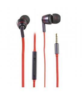 Auriculares intrauditivos vivanco 38912 - 17-21.000hz - 118db - 16ohm - control de volumen - cable 120cm - jack 3.5 chapado en