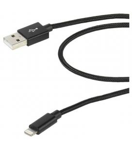 Cable lightning vivanco 37565 negro - conectores usb-a a lightning - mallado nailon - 1.5m