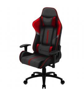 Silla gamer thunderx3 bc3 boss fire grey red - marco acero - resposabrazos ajustables - mecanismo de mariposa - piston clase 3