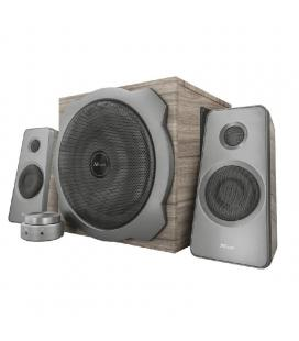 Altavoces 2.1 trust tytan speaker set wood - 120w max.( 60w rms) - subwoofer madera 40w- conector 3.5mm - mando cableado con