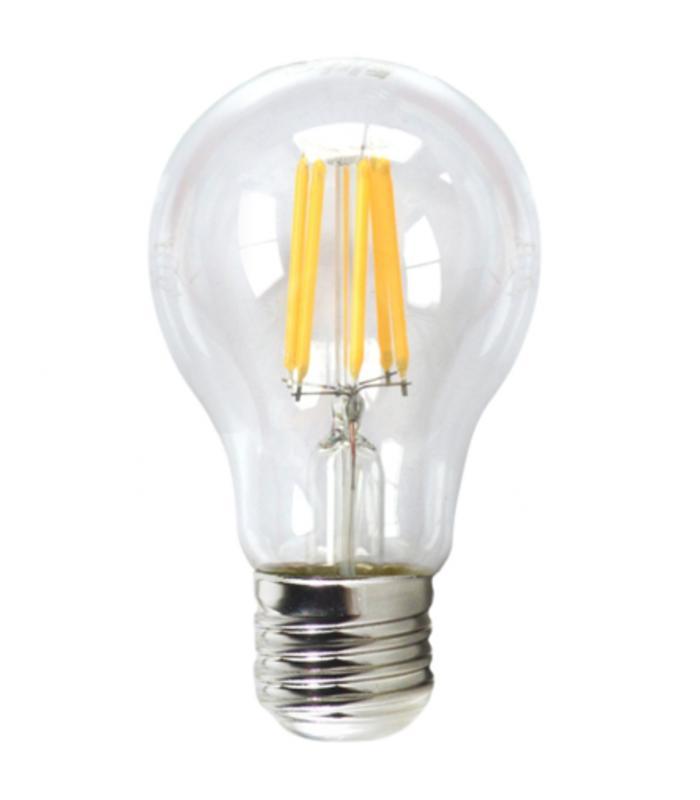 led calida Bombilla 80w electronic filamento silver luz eco 3000k 6w e27 transestandar OTkZiuPX