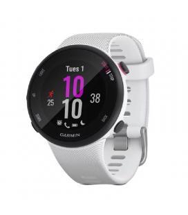 Reloj deportivo con gps garmin forerunner 45s blanco - carcasa 39mm - multisport - notificaciones - 5atm - compatible con