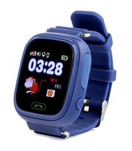 Reloj inteligente con localizador para niños leotec kids way azul marino - pantalla lcd táctil - gps - microsim - botón - Imagen