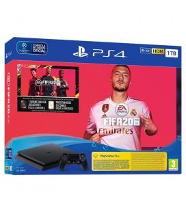 CONSOLA SONY PS4 SLIM 1TB + JUEGO FIFA20 + FUTVCH 1xSOBRE ORO + 3 ICONOS DE 5 PARTIDOS + PS 14 DÍAS VCH