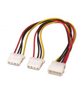 Cable alimentación Molex. Molex 4pin/M - 2x Molex 4pin/H. 20cm. - Imagen 1