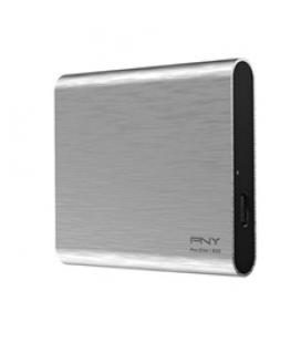 Disco duro externo solido hdd ssd pny pro elite cs2060 plata 250gb usb type - c 3.1 gen 2