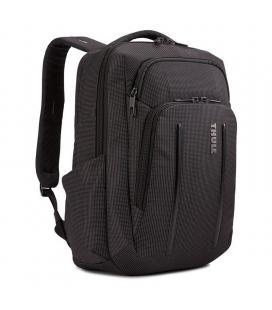 Mochila thule crossover 2 backpack black - 20l - para portátiles hasta 14'/35.5cm - bolsillo con bloqueo rfid - gestión de