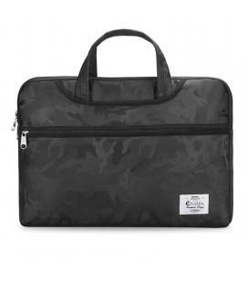 Funda e-vitta camuflaje negro - para portátiles hasta 15.6'/39.6 cm - interior terciopelo - asas de mano - cinta trolley -
