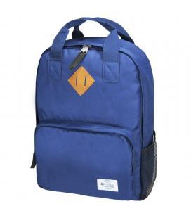 Mochila e-vitta style azul oscuro - para portátiles hasta 15.4'-16'/39.1-40.64cm - 2 compartimentos - 2 bolsillos - correa