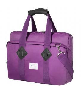 Maletín e-vitta messenger purple - para portátiles hasta 16'/40.6cm - interior acolchado y reforzado - correa de hombro -