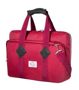 Maletín e-vitta messenger red - para portátiles hasta 16'/40.6cm - interior acolchado y reforzado - correa de hombro -