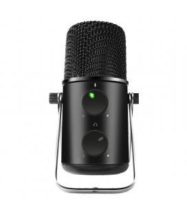 Micrófono spirit of gamer eko500 - diseño metálico - botón volumen/silencio - salida 3.5mm para auriculares - cable usb-a a usb
