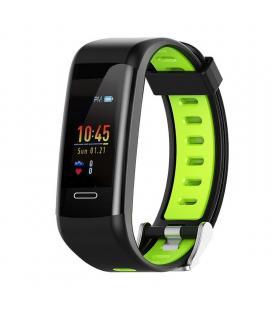 Pulsera cuantificadora leotec fitness gps color verde - pantalla color 2.44cm - bt - gps real - notificaciones - ip68 -