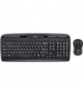 Teclado + mouse logitech mk330 wireless inalambrico negro ingles internacional