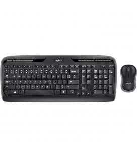 Teclado + mouse logitech mk330 wireless inalambrico negro ingles internacional