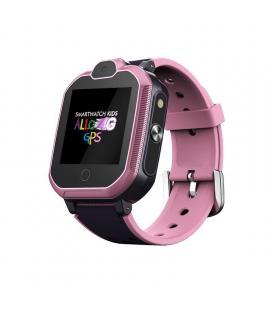 Reloj inteligente leotec allo 4g rosa - pantalla táctil color 3.5cm - wifi - bt - gps real - videollamada - botón sos - - Imagen