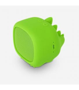 Altavoz bluetooth spc sound pups dino pup verde - 3w - alcance 10m - bat. 400mah - función manos libres