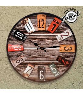 Reloj de Pared Antique Vintage Coconut - Imagen 1