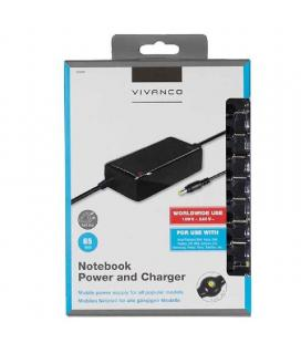 Cargador para portátil vivanco 30468 - 65w - 110/240v - 20v / 3.5a - 10 conectores - compatibilidad según especificaciones