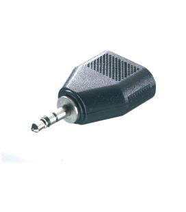 Adaptador jack estéreo vivanco 46064 - 1*jack 3.5mm macho - 2*3.5mm hembra - negro