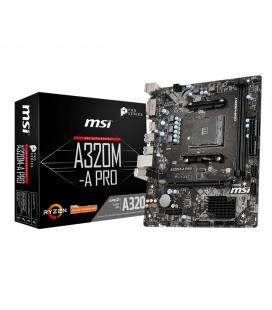 Placa base msi amd a320m - a pro socket am4 ddr4 x2 2666mhz max 32gb dvi - d hdmi matx - Imagen 1