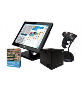 Bundle 10pos gestión comercio - tpv pt-15fiiin464w1 con w10 - impresora ticket rp-9n - escáner láser ls-270un - software no