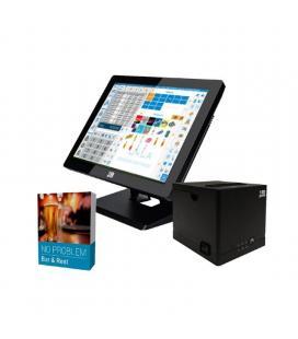 Bundle 10pos gestión hostelería - tpv pt-15fiiin464w1 con w10 - impresora ticket rp-9n - software no problem bar and rest