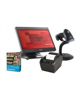 Bundle posiflex gestión comercio - tpv ps3316ens128w14 con w10 - impresora ticket pp-6900un - escáner láser ls-3000un -
