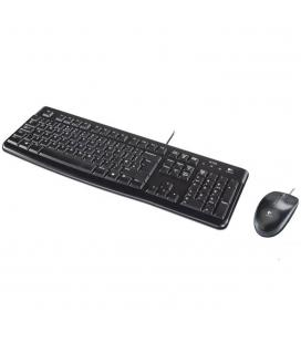 Teclado + mouse logitech mk120 optico usb 2.0 negro portugues