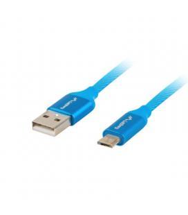 Cable usb lanberg ca-usbm-20cu-0030-bl - conectores usb tipo a macho / micro usb tipo b macho - 3m - azul