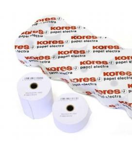 Pack 10 rollos papel electra kores 66606500 - 57*65*12 - 36.5m. - ø12mm - para impresión en offset - Imagen 1