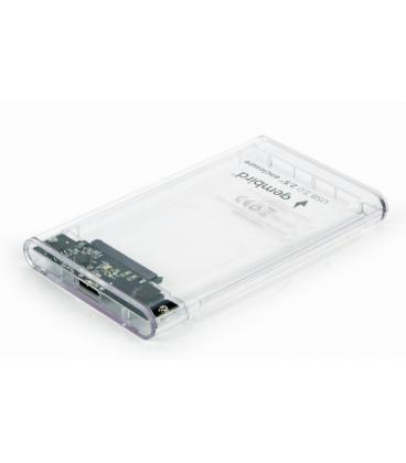 "CARCASA DISCO DURO GEMBIRD SATA USB 3.0 2,5"" TRANSPARENTE - Imagen 1"