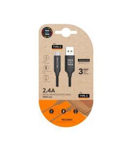 CABLE DE CARGA/SYNC TECH ONE TECH USB-C NEGRO 1M