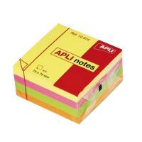 Notas adhesivas - cubo cuatrocientas hojas - tonos brillantes (2) - 75 x 75mm - apli