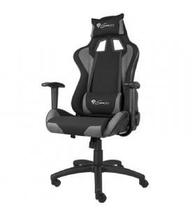 Silla gamer génesis nitro 440 black/grey - reposabrazos no ajustable - ruedas nylon - altura/asiento ajustable - piston clase 3