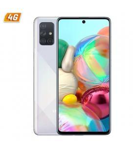 Smartphone móvil samsung galaxy a71 silver - 6.7'/17cm - cam (64+12+5+5)/32mp - oc - 128gb - 6gb ram - android - 4g - dual sim