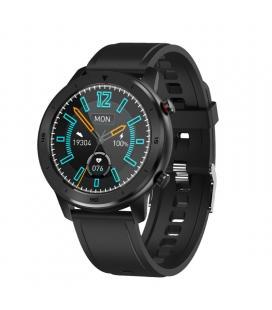 Reloj inteligente innjoo voom sport con correa color negro - pantalla 3.38cm - salud - notificaciones - bat.230mah -
