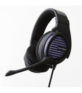 Auriculares millenium mh2 advanced con microfono gaming jack 3.5mm retroiluminacion morada