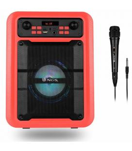 Altavoz portátil ngs roller lingo red - 20w - bt 5.0 tws - microusb/sd/aux - luces led - micrófono - ecualizacion 6 modos -