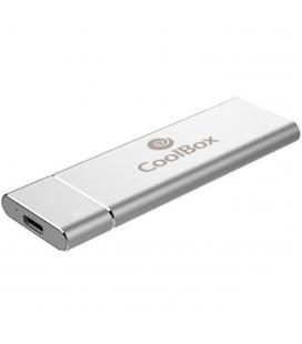 Mini carcasa disco duro - hdd - ssd coolbox coo - mcm - nvme nvme m.2 usb 3.1 gen 2 aluminio plata - Imagen 2