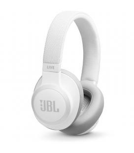 Auriculares bluetooth jbl live 650btnc white - cancelación activa de ruido - batería recargable 700mah - jack 3.5 - función