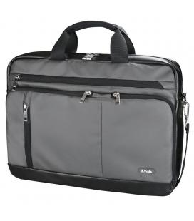 Maletín e-vitta s gear gris - para portátiles hasta 15.4'-16'/ 39.1-40.6cm - acolchada - tela waterproof - 4 bolsillos