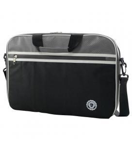 Maletín e-vitta retro bag grey - para portátiles hasta 11'-12.5'/ 27.9-31.75cm - acolchada y reforzada - 2 compartimentos