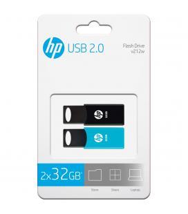PENDRIVE HP 32GB USB2.0 V212W NEGRO - PACK 2 PENDRIVES