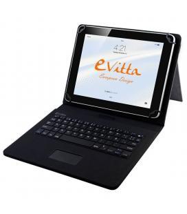 Funda con teclado e-vitta keytab usb touchpad negra - para tablet de 9.7/10.1'-24.6/25.65cm - conector microusb - 64 teclas -