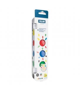 Caja 6 tarros pintura para dedos milán 31506 - 25ml - colores básicos