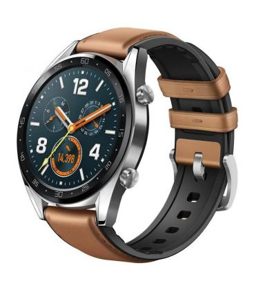 Reloj inteligente huawei gt classic brown - pantalla 3.53cm amoled - bt4.2 - 5atm - notificaciones - frecuencia cardiaca - gps -