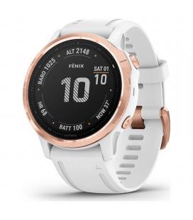 Reloj deportivo con gps garmin fénix 6s pro rose gold con correa blanca - 42mm - pantalla 3.04cm - bt - 10atm - multisport -